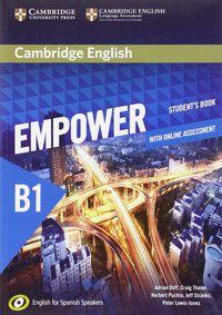 Empower Pre-Interm B1 (spanish Ed) (+online Assessment And Practice) - Adrian Doff / Craig Thaine / [ET AL. ]