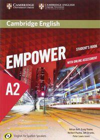 Camb Eng Empower For Spanish Speak A2 (+online) - Adrian Doff / Craig Thaine / [ET AL. ]
