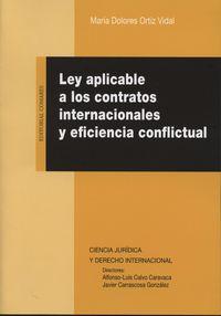 LEY APLICABLE A LOS CONTRATOS INTERNACIONALES Y EFICIENCIA CONFLICTUAL