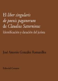 Lider Singularis De Poenis Paganorum De Claudius Saturninus, El - Identificacion - Jose Gonzalez