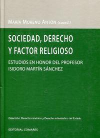Sociedad, Derecho Y Factor Religioso - Maria Moreno Anton
