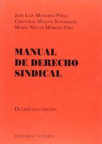 (12 ED) MANUAL DE DERECHO SINDICAL