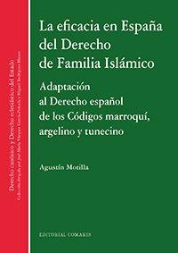 EFICACIA EN ESPAÑA DEL DERECHO DE FAMILIA ISLAMICO, LA - ADAPTACION AL DERECHO ESPAÑOL DE LOS CODIGOS MARROQUI, ARGELINO Y TUNECINO