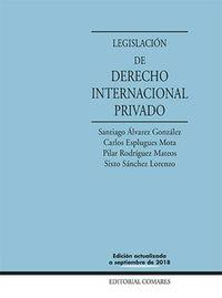 (21 ED) LEGISLACION DE DERECHO INTERNACIONAL PRIVADO