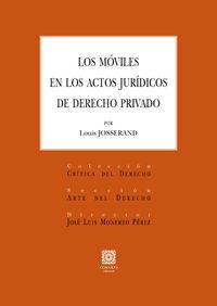 MOVILES EN LOS ACTOS JURIDICOS DE DERECHO PRIVADO