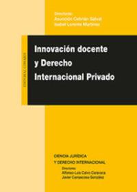 INNOVACION DOCENTE Y DERECHO INTERNACIONAL PRIVADO