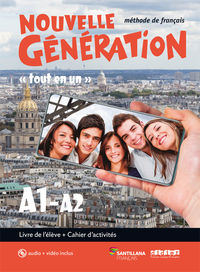 BACH 1 - NOUVELLE GENERATION A1 / A2 (+CAHIER) (+CD+DVD-ROM)