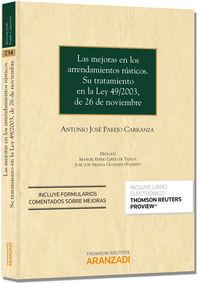 Las  mejoras en los arrendamientos rusticos (+proview) - Antonio Jose Parejo Carranza