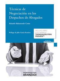 Tecnicas De Negociacion En Los Despachos De Abogados (+proview) - Eduardo Bahamonde Costas
