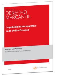 PUBLICIDAD COMPARATIVA EN AL UNION EUROPEA