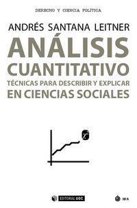 ANALISIS CUANTITATIVO - TECNICAS PARA DESCRIBIR Y EXPLICAR EN CIENCIAS SOCIALES