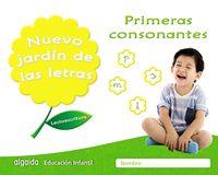 4 AÑOS - NUEVO JARDIN DE LAS LETRAS - PRIMERAS CONSONANTES