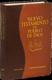 NUEVO TESTAMENTO DEL PUEBLO DE DIOS - EDICION COMENTADA (SIMIL PIEL MARRON, IMPRESION BITONO)