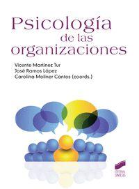 Psicologia De Las Organizaciones - Vicente Martinez Tur