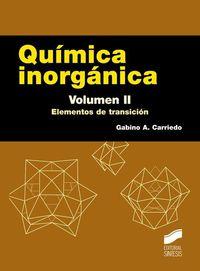 QUIMICA INORGANICA II - ELEMENTOS DE TRANSICION
