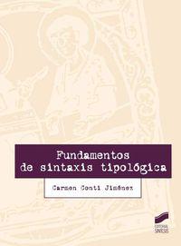 Fundamentos De Sintaxis Tipologica - Carmen Conti Jimenez
