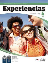 EXPERIENCIAS INTERNACIONAL 4 B2 - LIBRO DEL PROFESOR