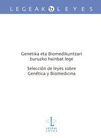 GENETIKA ETA BIOMEDIKUNTZARI BURUZKO HAINBAT LEGE = SELECCION DE LEYES SOBRE GENETICA Y BIOMEDICINA