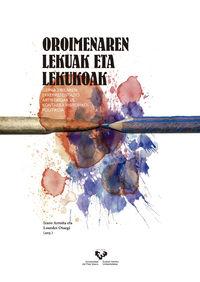 OROIMENAREN LEKUAK ETA LEKUOAK - GERRA ZIBILAREN ERREPRESENTAZIO ARTISTIKOAK VS. KONTAERA HISTORIKO-POLITIKOA