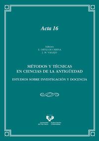 METODOS Y TECNICAS EN CIENCIAS DE LA ANTIGUEDAD
