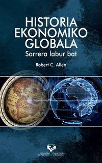 HISTORIA EKONOMIKO GLOBALA - SARRERA LABUR BAT