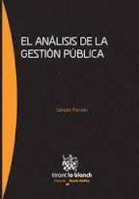 ANALISIS DE LA GESTION PUBLICA, EL