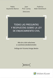TODAS LAS PREGUNTAS Y RESPUESTAS SOBRE LA LEY DE ENJUICIAMIENTO CIVIL - MAS DE 4.600 SOLUCIONES A CUESTIONES FUNDAMENTALES