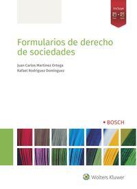 FORMULARIOS DE DERECHO DE SOCIEDADES (+EBOOK)