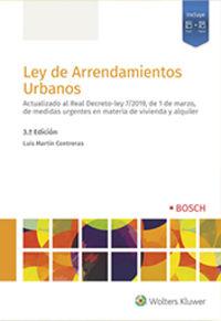 (3 ED) LEY DE ARRENDAMIENTOS URBANOS