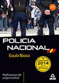 POLICIA NACIONAL ESCALA BASICA 2014
