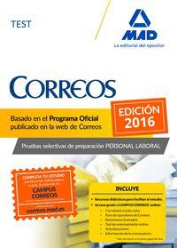 Test - Personal Laboral De Correos Y Telegrafos - Aa. Vv.