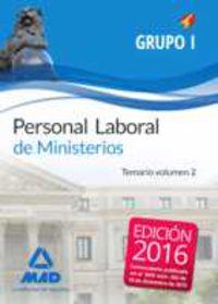 Temario Ii Grupo I - Personal Laboral De Ministerios - Aa. Vv.