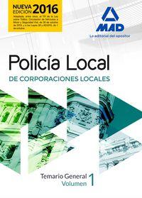 Temario General I - Policia Local De Corporaciones Locales - Aa. Vv.