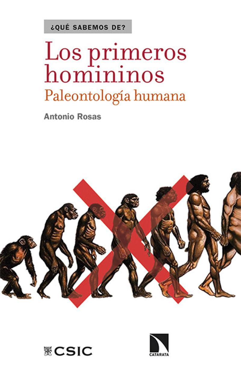 Los primeros homininos - Antonio Rosas