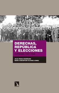 Derechas, Republica Y Elecciones - Ourense, 1931-1936 - Julio Prada Rodriguez / Maria Concepcion Alvarez Gomez