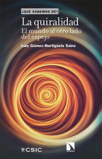 Quiralidad, La - El Mundo Al Otro Lado Del Espejo - Luis Gomez-Hortiguela Sainz