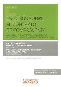 Estudios Sobre El Contrato De Compraventa (+proview) - Antonio  Orti Vallejo  /  Inmaculada   Sanchez Ruiz De Valdivia  /  [ET AL. ]