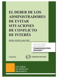 El  deber de los administradores de evitar situaciones de conflicto de interes (+proview) - Pedro Portellano Diez