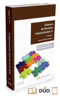 (3 Ed)  Sistema De Derecho Administrativo Ii (duo) - German Fernandez Farreres