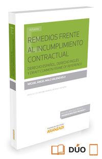 Remedios Frente Al Incumplimiento Contractual - Derecho Español, Derecho Ingles Y Draft Common Frame Of Reference (duo) - Miguel Angel Malo Valenzuela