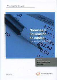 Nominas Y Liquidacion De Cuotas (duo) - Guia Especializada - Antonio Benavides Vico