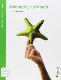 BACH 1 - BIOLOGIA Y GEOLOGIA - OBSERVA - SABER HACER (NAV, PV)