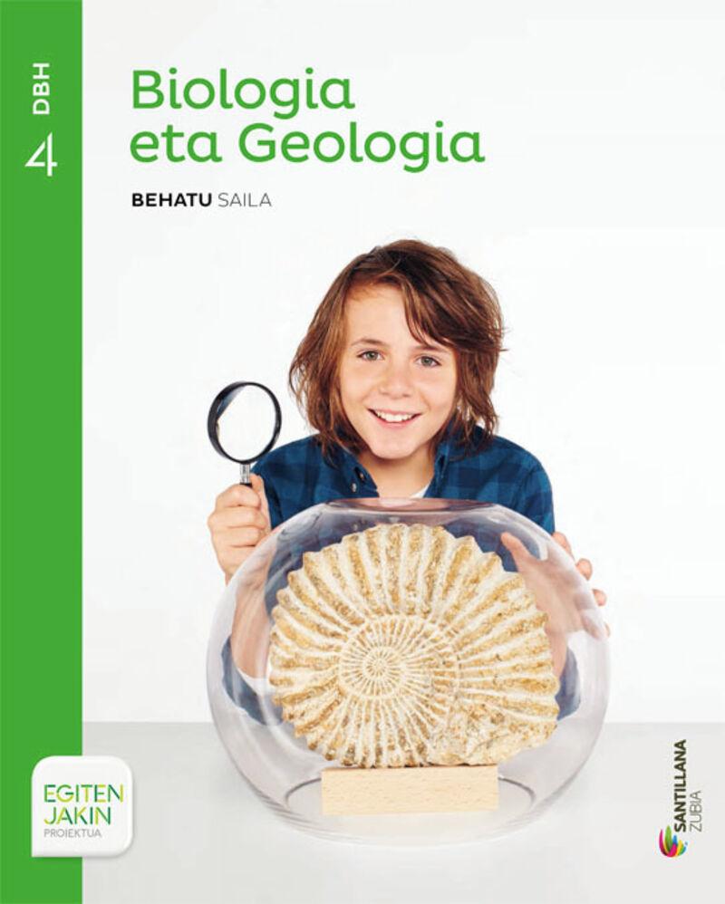 DBH 4 - BIOLOGIA ETA GEOLOGIA (+LABORATORIO KOAD. ) - BEHATU - EGITEN JAKIN (PV)