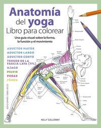 anatomia del yoga - libro para colorear - Kelly Solloway