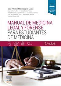 (2 ED) MANUAL DE MEDICINA LEGAL Y FORENSE PARA ESTUDIANTES