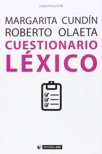 Cuestionario Lexico - Margarita Cundin
