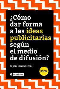 ¿COMO DAR FORMA A LAS IDEAS PUBLICITARIAS SEGUN EL MEDIO DE DIFUSION?