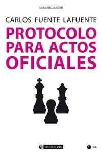 PROTOCOLO PARA ACTOS OFICIALES
