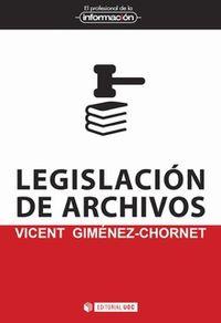 Legislacion De Archivos - Vicent Gimenez-Chornet