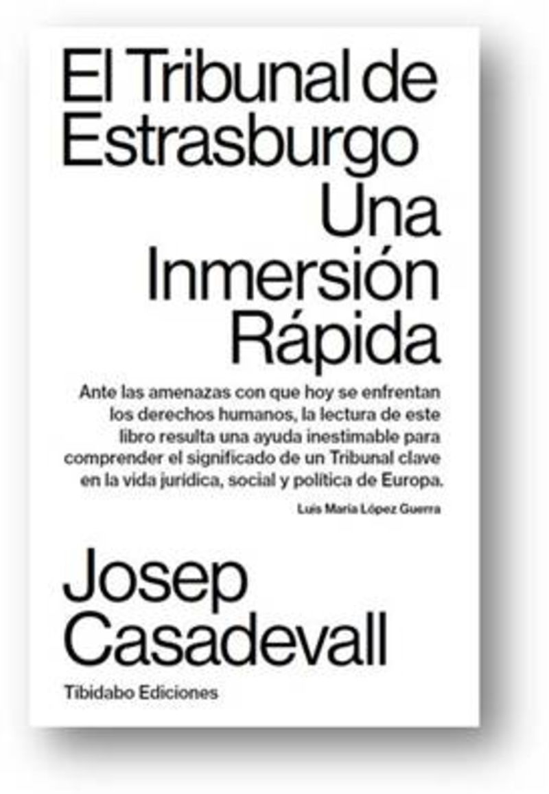 Tribunal De Estrasburgo, El - Una Inmersion Rapida - Josep Casadevall